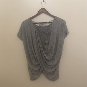 Tops - G by Gottex grey shirt open back